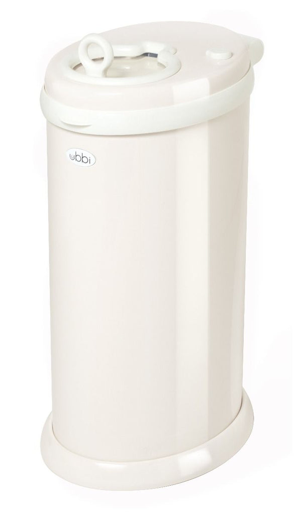 ubbi stainless steel diaper pail sand