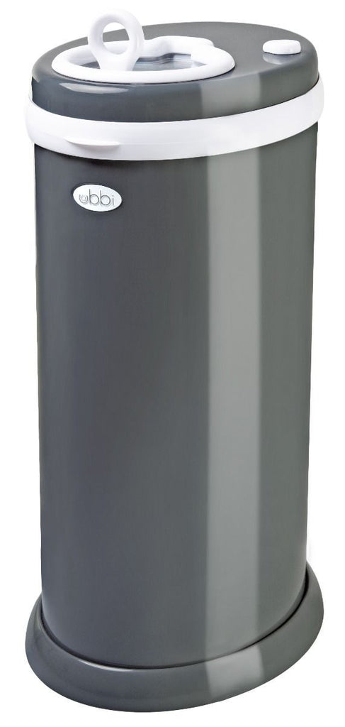 ubbi stainless steel diaper pail slate