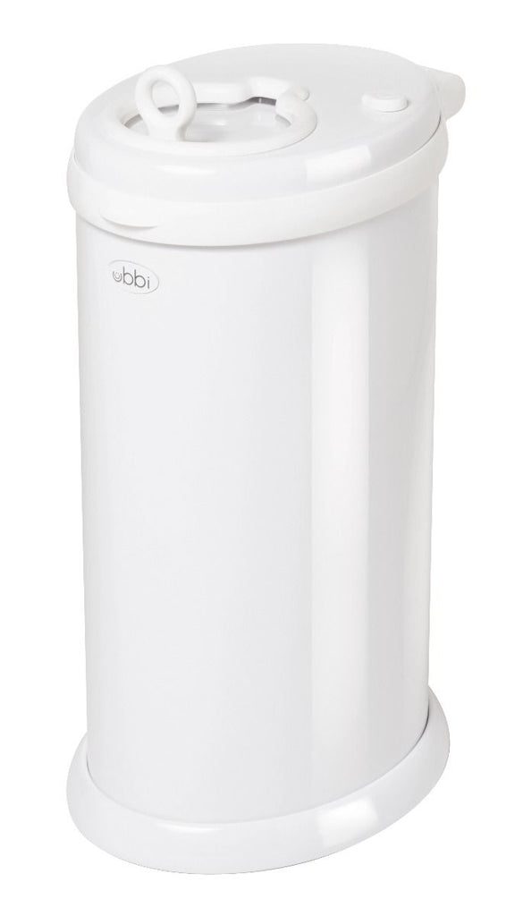 ubbi stainless steel diaper pail white
