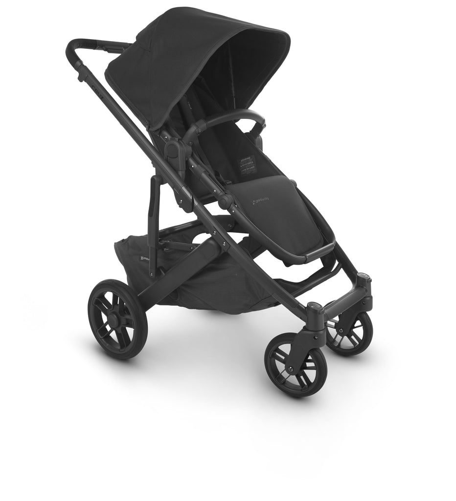 uppababy cruz v2 stroller jake charcoal carbon frame black leather