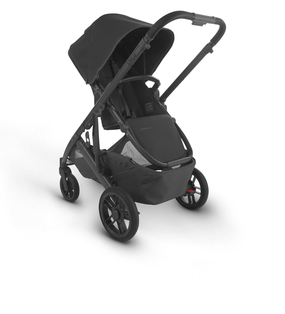 uppababy cruz v2 stroller jake charcoal carbon frame black leather parent facing