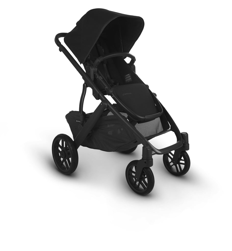 uppababy vista v2 jake charcoal carbon frame black leather forward facing