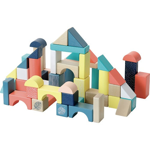 Wood Blocks in Barrel 54 pcs