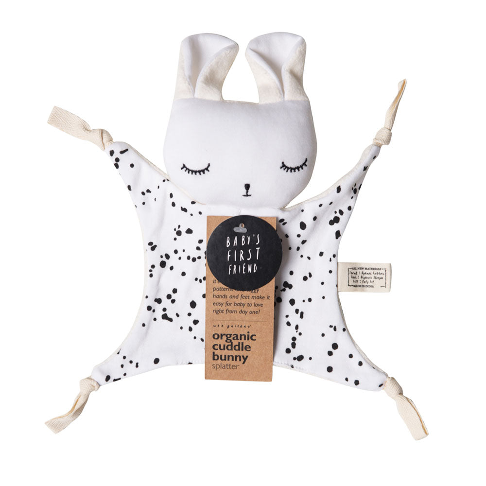 wee gallery cuddle bunny splatter packaging
