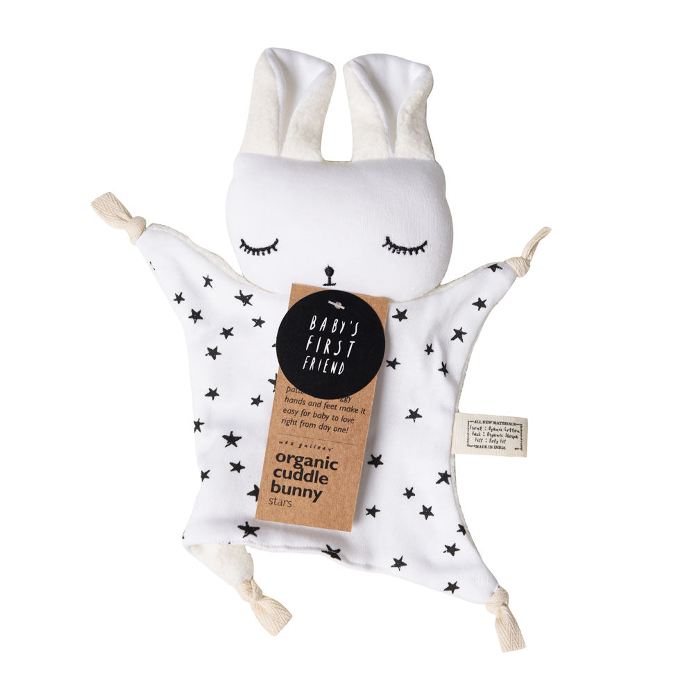 wee gallery cuddle bunny stars packaging