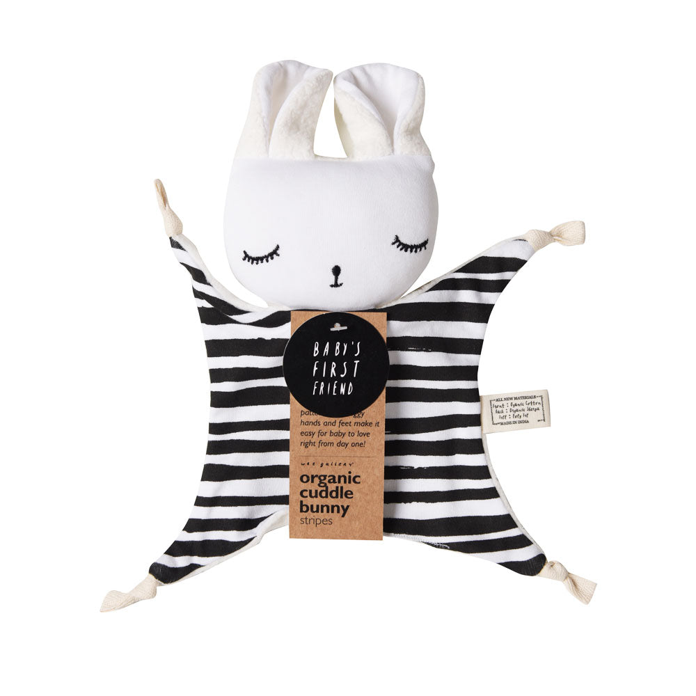 wee gallery cuddle bunny stripes packaging