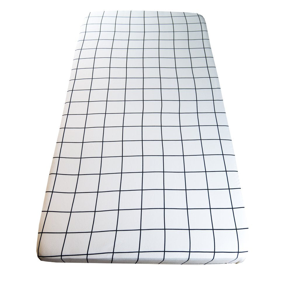 wildfire teepees fitted crib cot sheet grid