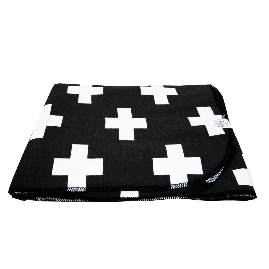 wildfire teepees jersey blanket black white cross