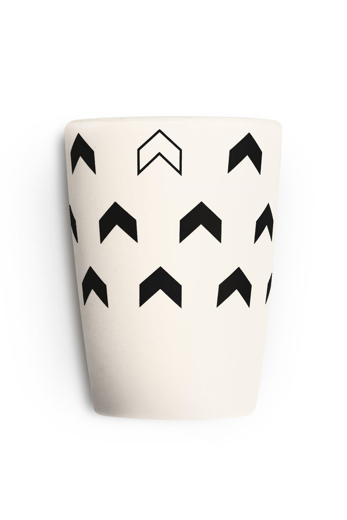 young lux eco friendly bamboo cups set of 4 scandinavian series chevron