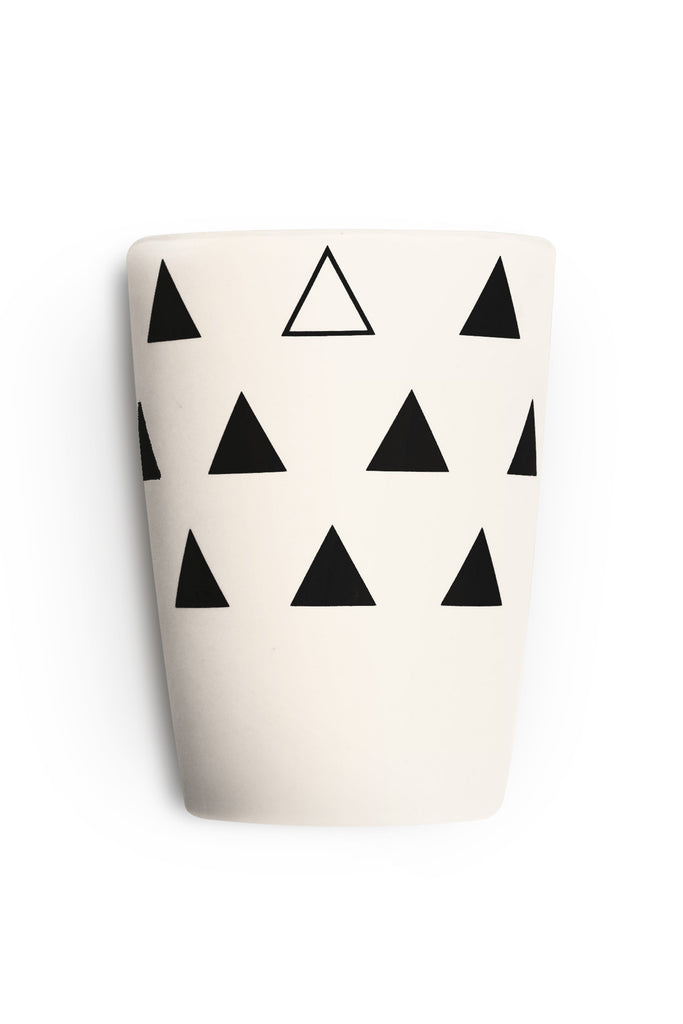 young lux eco friendly bamboo cups set of 4 scandinavian series triangle