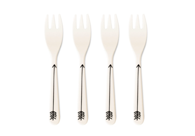Eco-Friendly Bamboo Forks - Set of 4