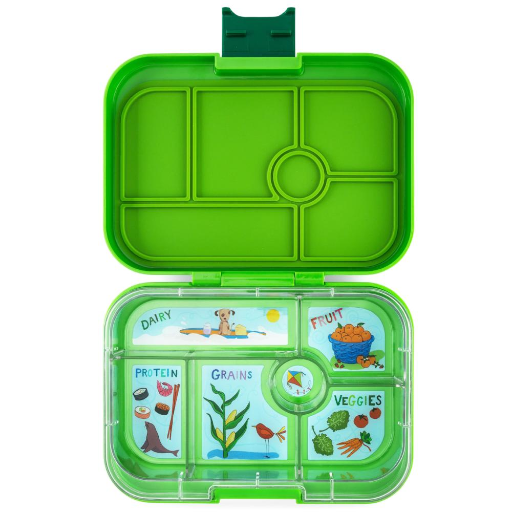yumbox original bento lunch box avocado green