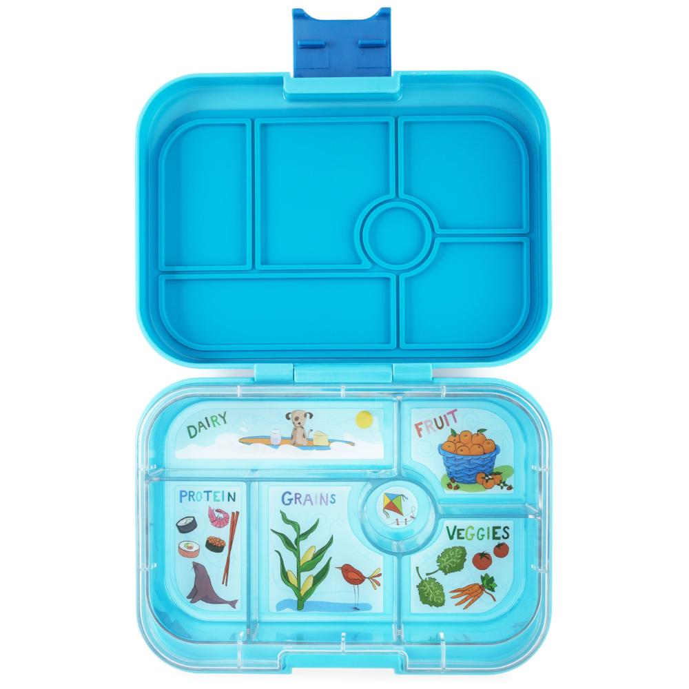 yumbox original bento lunch box blue fish