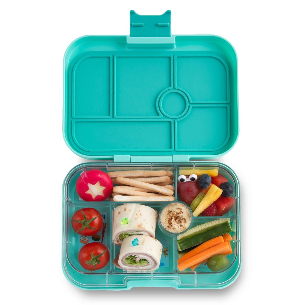yumbox original bento lunch box surf green