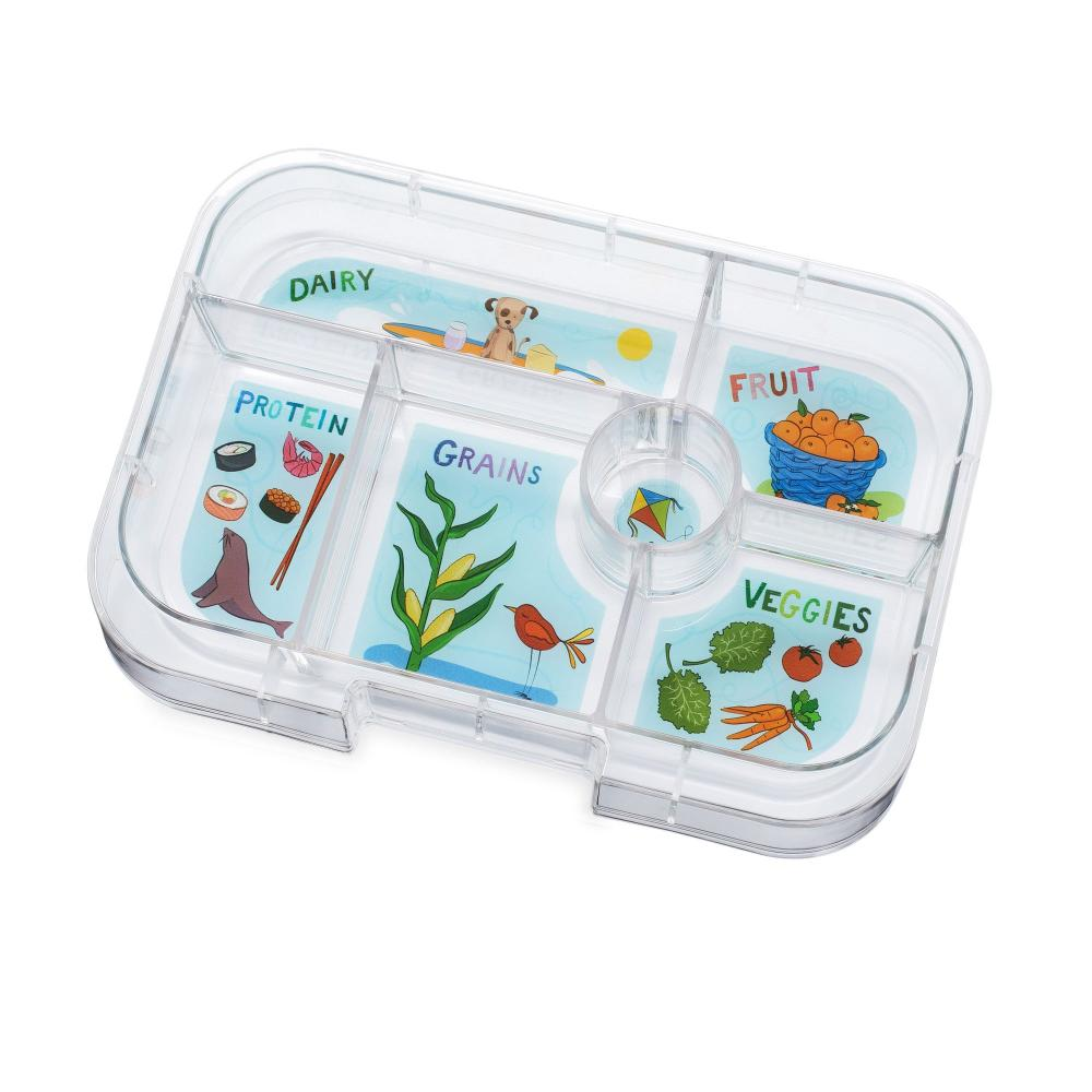 Yumbox Original (6 compartment) - Blue Fish