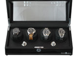 Pangea Q360 Quad Automatic Watch Winder- Black