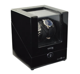 Pangaea D510 Double Watch Winder with LED Lights - Black