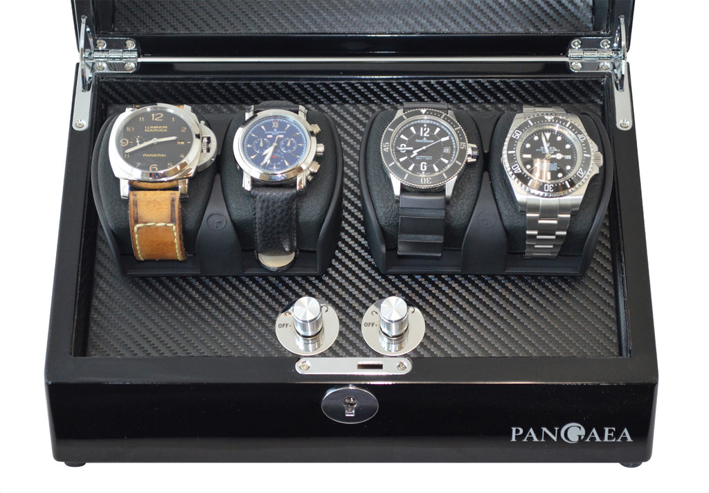 Pangea Q350 Quad Automatic Watch Winder With Led Lights