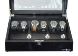 Pangea Q650 Automatic Six Watch Winder with LED Light