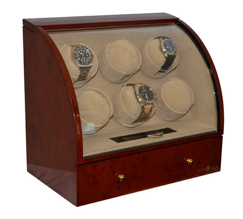 Pangaea Q600 Six Watch Winder (Dark Brown)