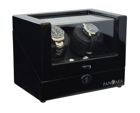 Pangaea D310 Double Watch Winder - Black (Battery or AC Powered)
