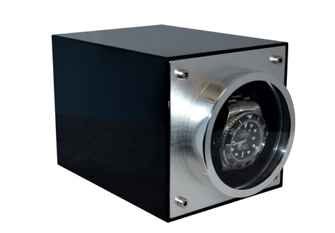 Pangaea S700 Single Metal Watch Winder - Carbon Fiber (Battery or AC Powered)