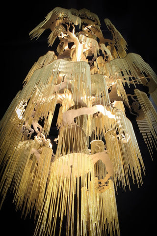 suspended chandelier