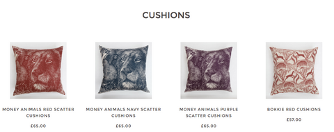 African Cushions by Fabricnation