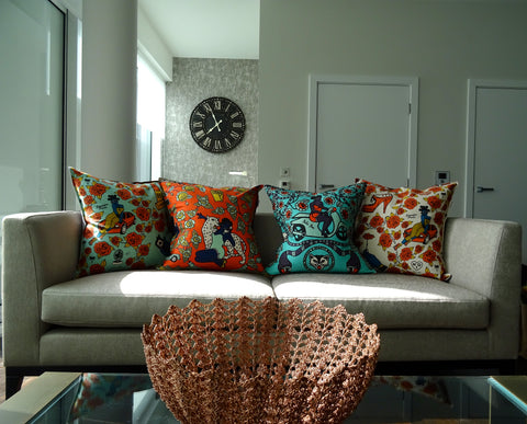 african scatter cushions