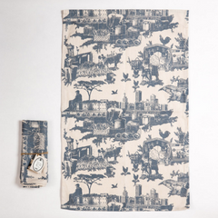 printed tea towels in tolie du jozi