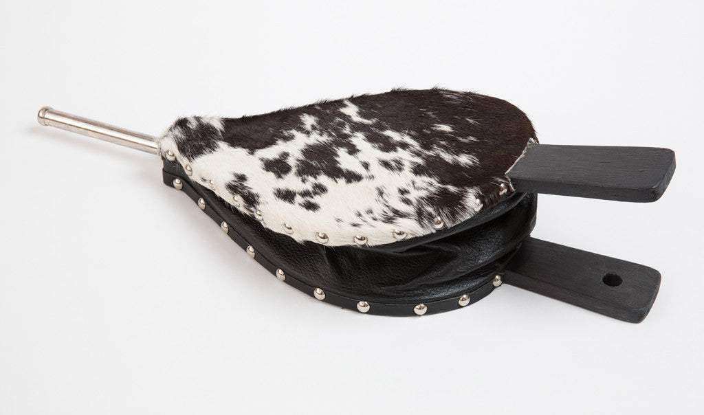 Fireside Bellow Nguni Skin Speckled Black and White