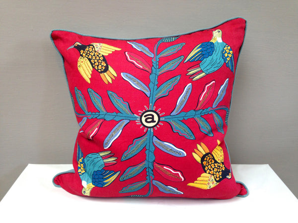 Bird Crossing Cardinal Scatter Cushion