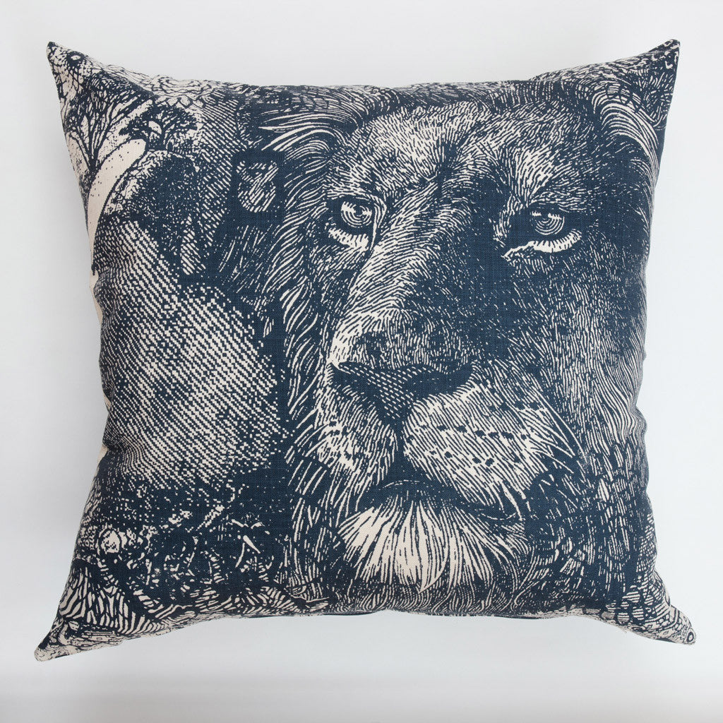Money Animals Scatter Cushion in Navy