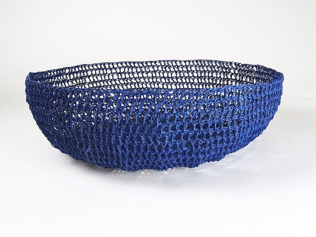 Navy Crochet Basket Bodhi Stitch