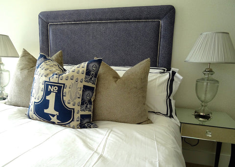 navy scatter cushions