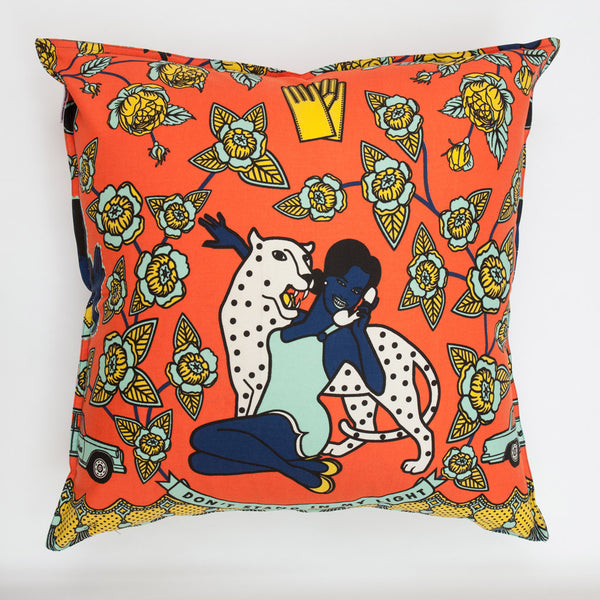 orange scatter cushions