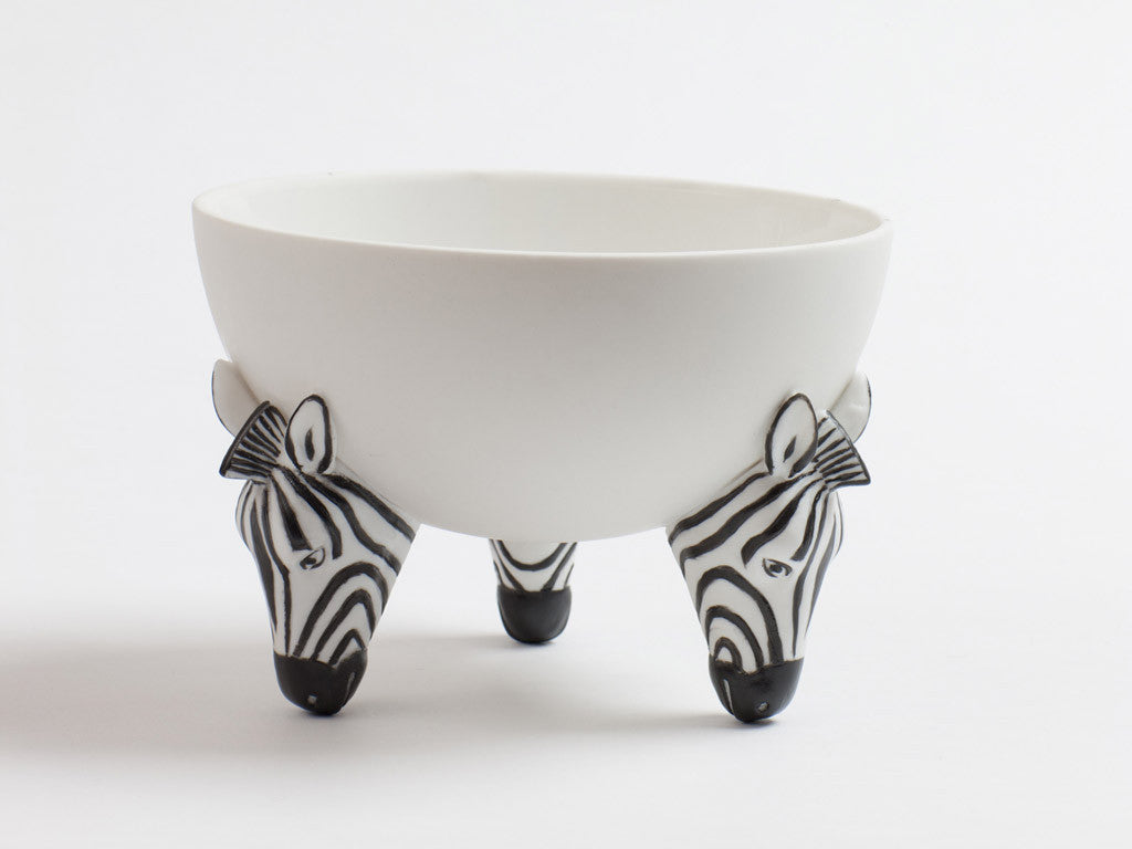 Ceramic Zebra Nut Bowl