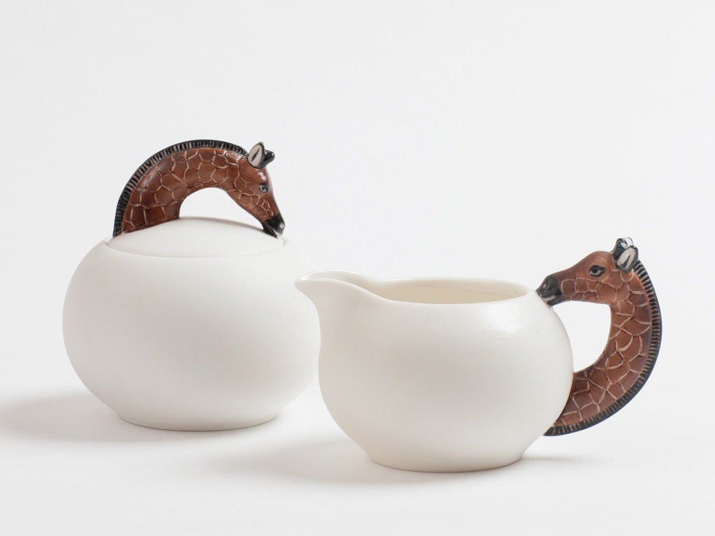 Giraffe Creamer and Sugar Pot