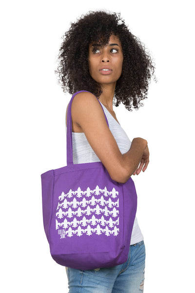 Purple Follow Your NOLA Tote Bag