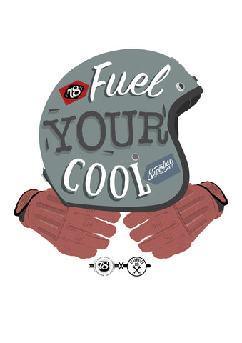 'Fuel Your Cool' Print 78 X Scrambler23