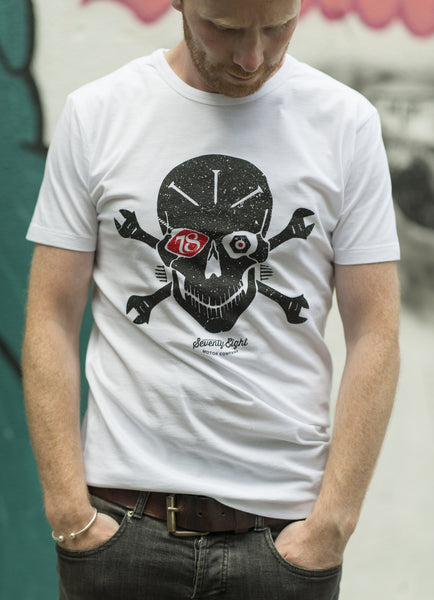 Bionic x 78 Skull - Black with white print