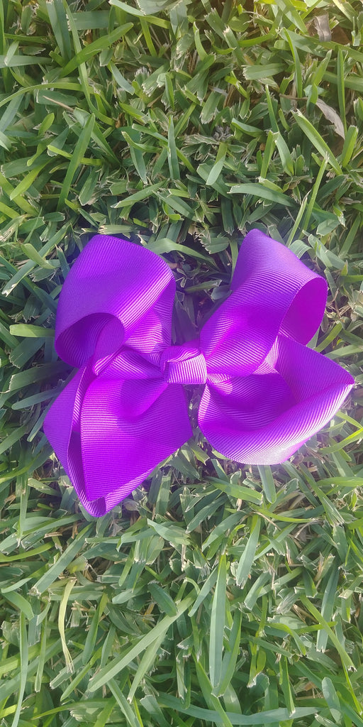 Purple Hair Bows
