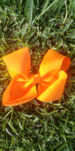 Bright Orange Hair Bows