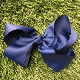 Navy Hair Bows