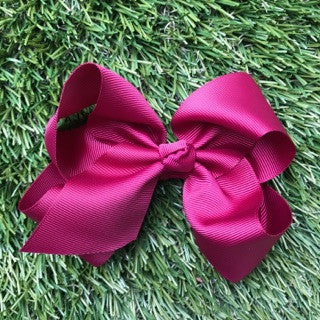 Maroon Hair Bow