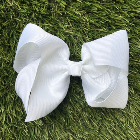 White Hair Bows