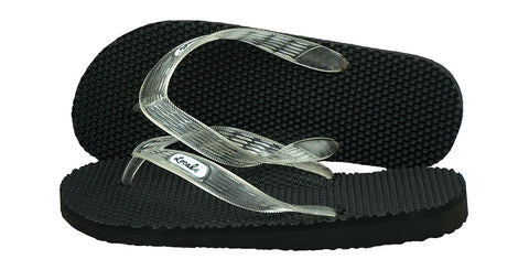 Locals Men's Arch Support Clear Strap Massage Slippa