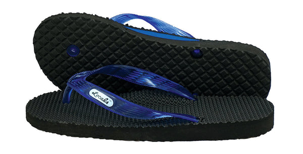 Locals Women's Arch Support Blue Strap Massage Slippa