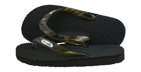 Locals Men's Arch Support Brown Strap Massage Slippa
