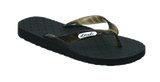Locals Women's Arch Support Black Strap Slippa